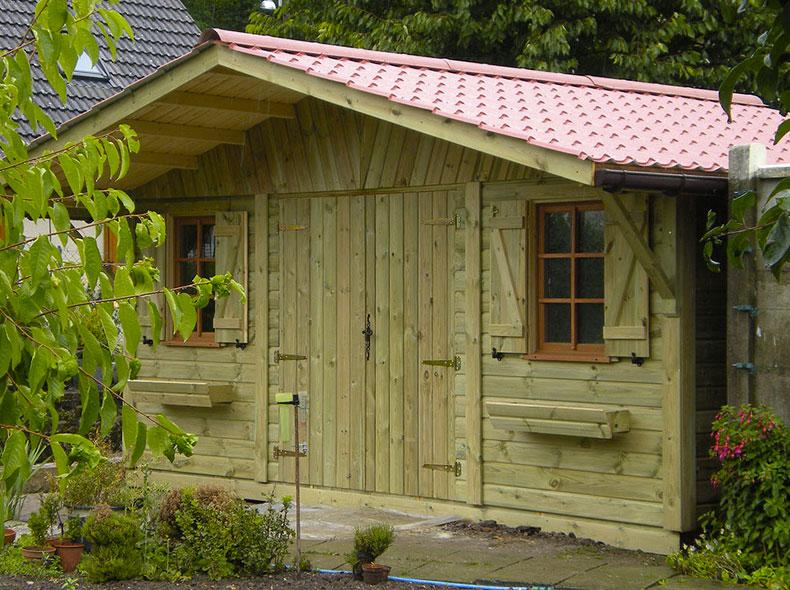 Bardage douglas standard brut espace bois 42 for Garage en bois autoclave