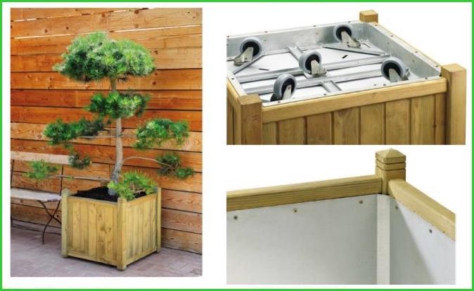 Bac roulette hibiscus 220l espace bois 42 - Bac en bois pour terrasse ...