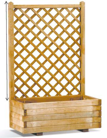 Bac treillis lierre 80 espace bois 42 - Bac plantes bois ...